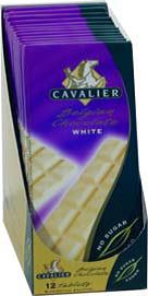 Cavalier sukkerfri sjokoladeplate hvit 004