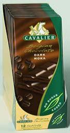 Cavalier sukkerfri sjokoladeplate mørk mokka 009
