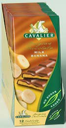 Cavalier sukkerfri sjokoladeplate melk banan