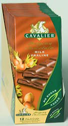 Cavalier sukkerfri sjokoladeplate melk nøttekrem 008