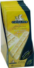 Cavalier sukkerfri sjokoladeplate hvit riskrips 006