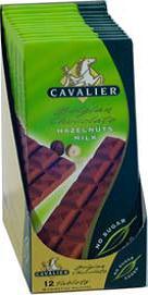 Cavalier sukkerfri sjokoladeplate melk hasselnøtt
